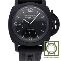 Panerai Luminor 1950 10 Days GMT Koolstof 44mm Zwart Arabisch