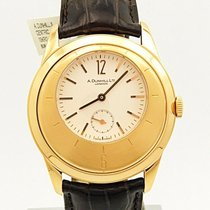 Alfred Dunhill Rose gold Manual winding White 40mm pre-owned