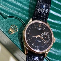 Rolex Cellini Date Rose gold 39mm Black