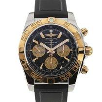Breitling Chronomat 44 Gold Bezel Black Dial Chronograph Cal. B01