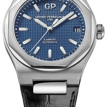 Girard Perregaux Steel Automatic Blue 42mm new Laureato