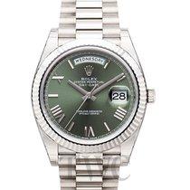 롤렉스Day-Date / President,새 시계/미 사용,정품 박스 있음, 서류 원본 있음,화이트골드