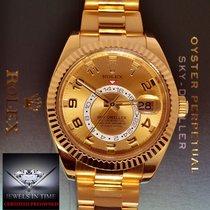 Rolex Sky-Dweller GMT 18k Yellow Gold Mens Watch Box/Papers...