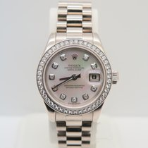 Rolex Lady-Datejust 18k White Gold Factory MOP Diamond Dial (B&P)