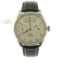 IWC Portuguese Annual Calendar nuevo 2021 Automático Reloj con estuche y documentos originales IW503501