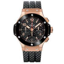 Hublot Rose gold Automatic Black Arabic numerals 44mm pre-owned Big Bang 44 mm