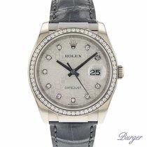 Rolex Witgoud Automatisch Zilver 36mm tweedehands Datejust