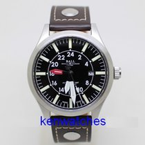 Ball Engineer Master II Aviator pre-owned 44mm Date GMT Leather