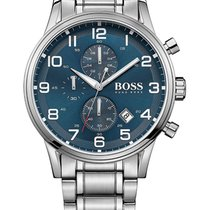 Hugo Boss Chronograph 44mm Quarz neu Blau