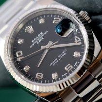 Rolex Oyster Perpetual Date Сталь 34mm Чёрный