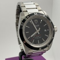 Tudor Grantour Date Steel 41mm Black No numerals