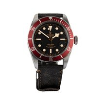 Tudor Black Bay pre-owned 40mm Black Leather