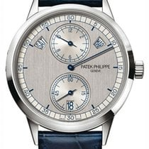Patek Philippe White gold Automatic Silver No numerals 40.5mm new Annual Calendar