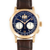 A. Lange & Söhne Red gold Manual winding Black 39mm pre-owned Datograph