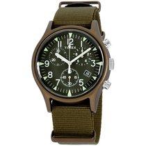 Timex Aluminium Quartz Zelená Arabské 40mm nové
