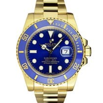 Rolex Submariner Date pre-owned 40mm Gold