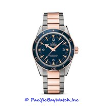 Omega Rose gold Automatic Blue Arabic numerals 41mm new Seamaster 300