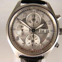 IWC Fliegeruhr Spitfire Chronograph Stahl 42mm Silber Arabisch Deutschland, Frankfurt