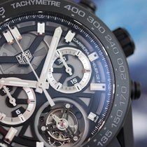 TAG Heuer Carrera Calibre Heuer 02T Tourbillon Black Ceramic...