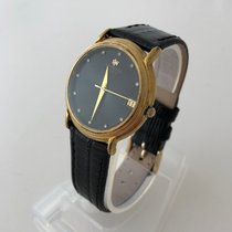 Raymond Weil GENEVE Automatic Date Black Dial Gold Case Vintage