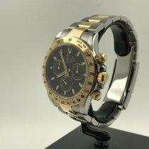 Rolex Daytona Steel Gold Black Dial Like New 116523 2014