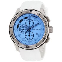 2c2cbb96371 Nautica Nst Blue Dial Leather Strap Men s Watch Nad19536g for  64 ...