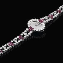 Baume & Mercier A White Gold, Diamond And Ruby-set Bracelet...