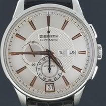 Zenith Chronograaf 42mm Automatisch 2011 tweedehands El Primero Winsor Annual Calendar Zilver