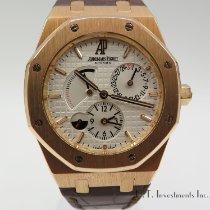 Audemars Piguet Royal Oak Dual Time Rose gold 39mm Silver No numerals