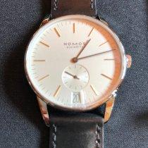 NOMOS Orion Datum Acier 38mm Blanc Sans chiffres
