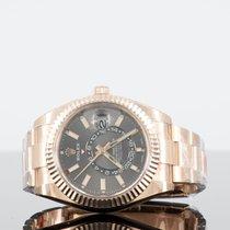 Rolex Sky-Dweller Or rose 42mm Brun Sans chiffres