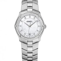 Ebel Sport Steel Case, Mother of Pearl Dial with Diamonds