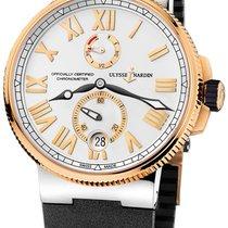 Ulysse Nardin Marine Chronometer Manufacture Золото/Cталь 45mm Cеребро