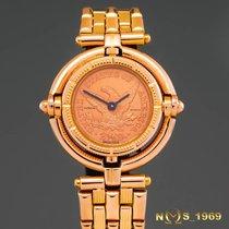 Corum Zegarek damski Coin Watch 30,30 mm width from outer crown to outer crown 27mmm Kwarcowy używany Zegarek z oryginalnym pudełkiem 2000
