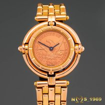 Corum pre-owned Quartz 30,30 mm width from outer crown to outer crown 27mmm Gold (solid) Sapphire Glass