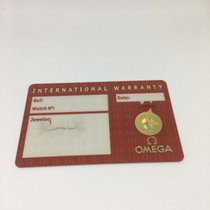 Omega Original Warranty Card Open Papers