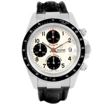 Tudor Tiger Prince Date White Dial Stainless Steel Mens Watch...