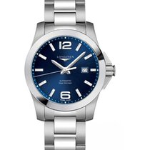 浪琴 (Longines) Conquest, L37784966, Blue Dial, Stainless Steel