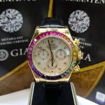 Rolex Daytona chronograph  yellow gold aftermarket rainbow dial