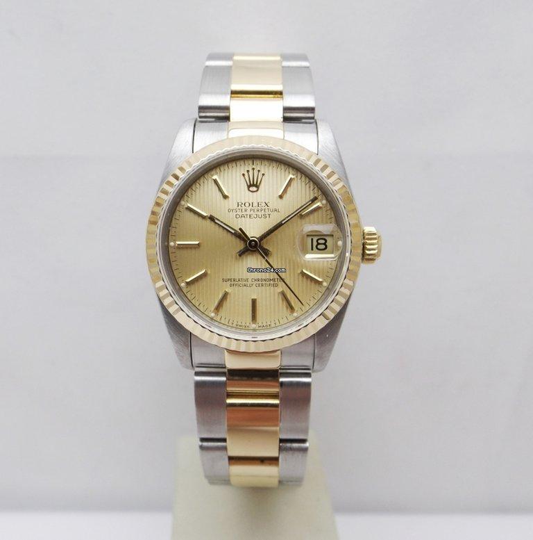 incontrare ff2e8 cb2f7 Rolex Datejust Mid size medium 68273 acciaio oro oyster 31mm