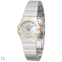 Omega Constellation Quartz Gold/Steel 24mm Mother of pearl