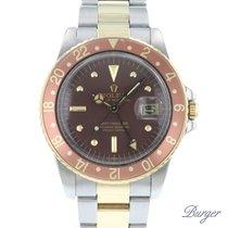 Rolex GMT-Master Gold/Steel 40mm Brown