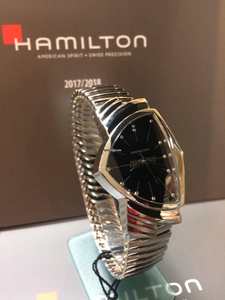 Hamilton Ventura H24411232 HAMILTON Ventura Quarzo Acciaio Nero 2021 new
