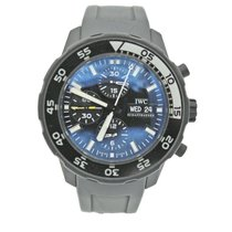 IWC Ceramic Automatic Black No numerals 44mm pre-owned Aquatimer Chronograph