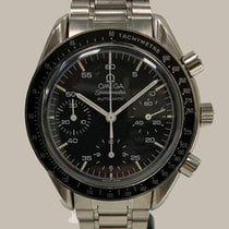 Omega Speedmaster Reduced Aço 39mm Preto Sem números
