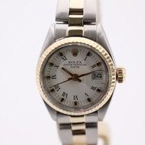 Rolex Oyster Perpetual Lady Date Or/Acier 26mm Blanc Sans chiffres