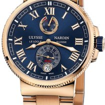 Ulysse Nardin Marine Chronometer Manufacture Pозовое золото 43mm Синий