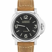 Panerai Luminor Base 8 Days Steel 44mm Black Arabic numerals