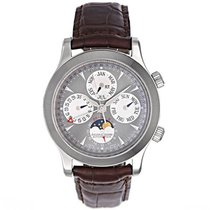 Jaeger-LeCoultre White gold Automatic Grey No numerals 42mm pre-owned Master Memovox