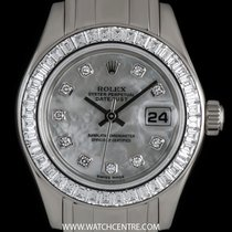 Rolex 18k W/G MOP Dial Diamond Set Pearlmaster Datejust...